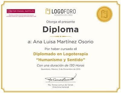 diploma logoterapia